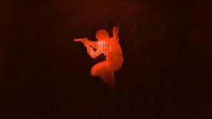 Логотип CS в кровавом варианте обоев CS